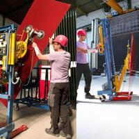 Transport-Lift 7011-DHFW für die Glasschleiferei und den Glaszuschnitt
