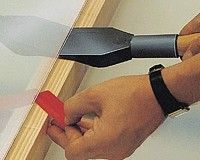 555KU Block lever made of plastic - wooden handle