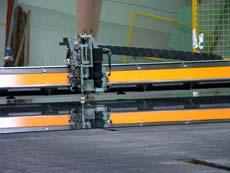 The Pannkoke CNC cutting machine NC-3B in the working process