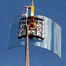Für gebogene Glasscheiben endlich eine gute Lösung um bis zu 750 kg bewegen zu können - das Vakuumhebe-Gerät 7411-DSG7