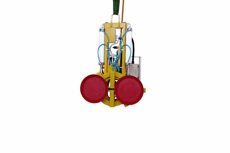 The 250 kg version of vacuum lifter 7025-MD2-4 with two 488-K suction cups.