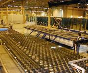 A 9 m long float glass sheet