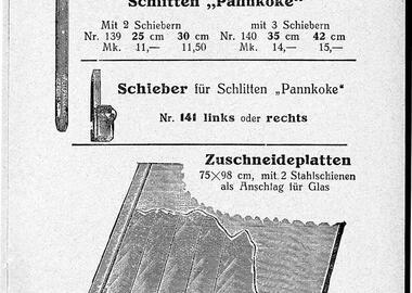 Das Datenblatt vom Zuschneideschlitten