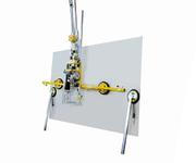 Die schiebbaren Verlängerungen lassen sich einfach und schnell demontieren, damit auch kleinere Glasscheiben bewegt werden können.