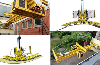 Counterweight unit Balance 20 with vacuum lifter Kombi 7441-DS6G1 undergoing tests