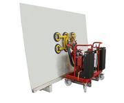 Die Blechtafel, mit einem Gewicht von 600 kg, wird vom Lagerbock aufgenommen.