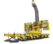 Vacuum lifter 7441-DS6-G can also move flat panes of glass.
