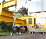 Der Hebelarm mit den 1260 kg beträgt über drei Meter.