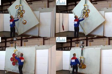 Der kleine Vakuumheber 7025-MD2-4 kann bis zu 500 kg bewegen.