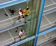 10,000m² of profile glass were installed on the multi-storey garage at the Rebstockpark in Frankfurt