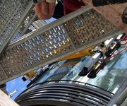 Verglasen von gebogenen VSG-Scheiben in München