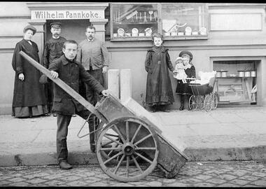 Das Geschäft von Wilhelm Pannkoke in Berlin