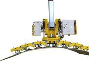 So sieht es aus, wenn eine konvexe Stahlplatte mit einem Radius von 3,5 Metern bewegt wird.