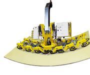 So sieht es aus, wenn eine konkave Stahlplatte mit einem Radius von 3,5 Metern bewegt wird.