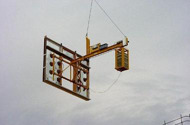 Fensterelemente 600 kg einsetzen