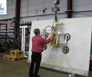 The 7005-DS4-2/E vacuum lifter being tested