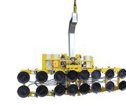 Jeder Sauger ist beweglich aufgehängt und die Aufhängestange kann für den Einsatz mit der Gegengewichts-Einheit demontiert werden.